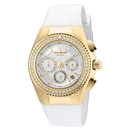 Technomarine Women's Cruise Quartz Watch with Silicone Strap, White, 24 (Model: TM-115233