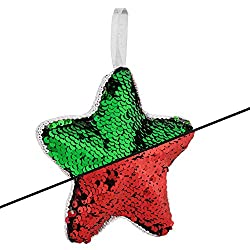 Reversible Sequin Red and Green Star