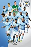 Manchester City - Soccer Poster / Print (The Players - 2017 / 2018) (Size: 24'' x 36'') (By POSTER STOP ONLINE)