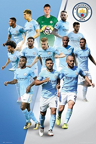 Manchester City - Soccer Poster / Print (The Players - 2017 / 2018) (Size: 24'' x 36'') (By POSTER STOP ONLINE) by POSTER STOP ONLINE