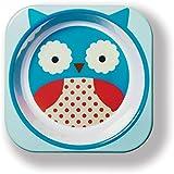 Skip Hop Zoo Little Kid Melamine Feeding Bowl, Otis Owl