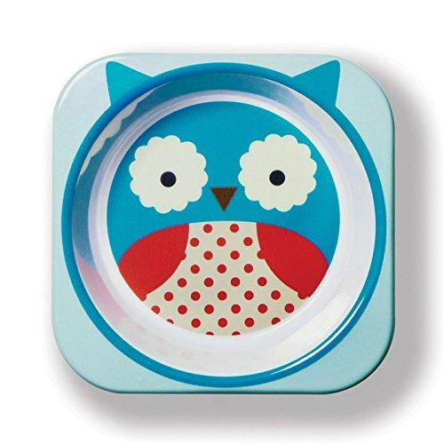 Skip Hop Baby Zoo Little Kid and Toddler Melamine Feeding Bowl, Multi Otis Owl