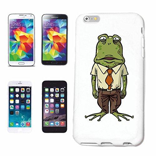 """cas de téléphone iPhone 7 """"FROG regarde STUPIDE DE Frogs LINGERIE et crapauds TOAD FROG ESPÈCES GRENOUILLES TOAD raclable"""" Hard Case Cover Téléphone Covers Smart Cover pour Apple iPhone en blanc"""