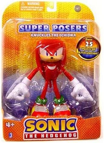 Amazon Com Sonic The Hedgehog Exclusive 6 Inch Bendable Action Figure Knuckles The Echidna Over 25 Points Of Articulation Toys Games