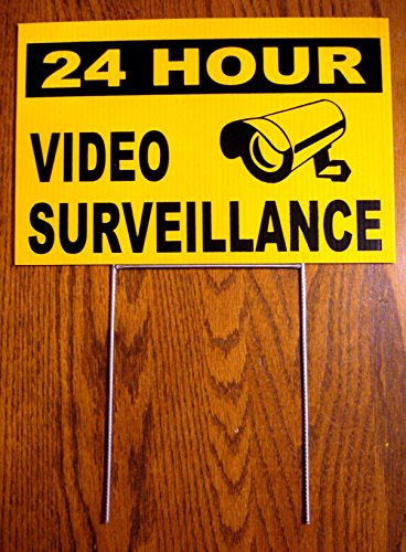 Coroplast Yard Signs Custom - 1Pc Acceptable Modern Security Yard Signs Being Watched Decal Video Warning Coroplast Premises Monitored Size 8