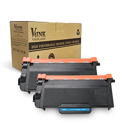 V4INK 2 Pack Compatible Toner Cartridge Replacement for Brother TN850 TN 850 TN820 for use with Brother HLL6200DW HLL6200DWT HLL6250DW MFCL5800DW DCPL5650DN DCPL5600DN