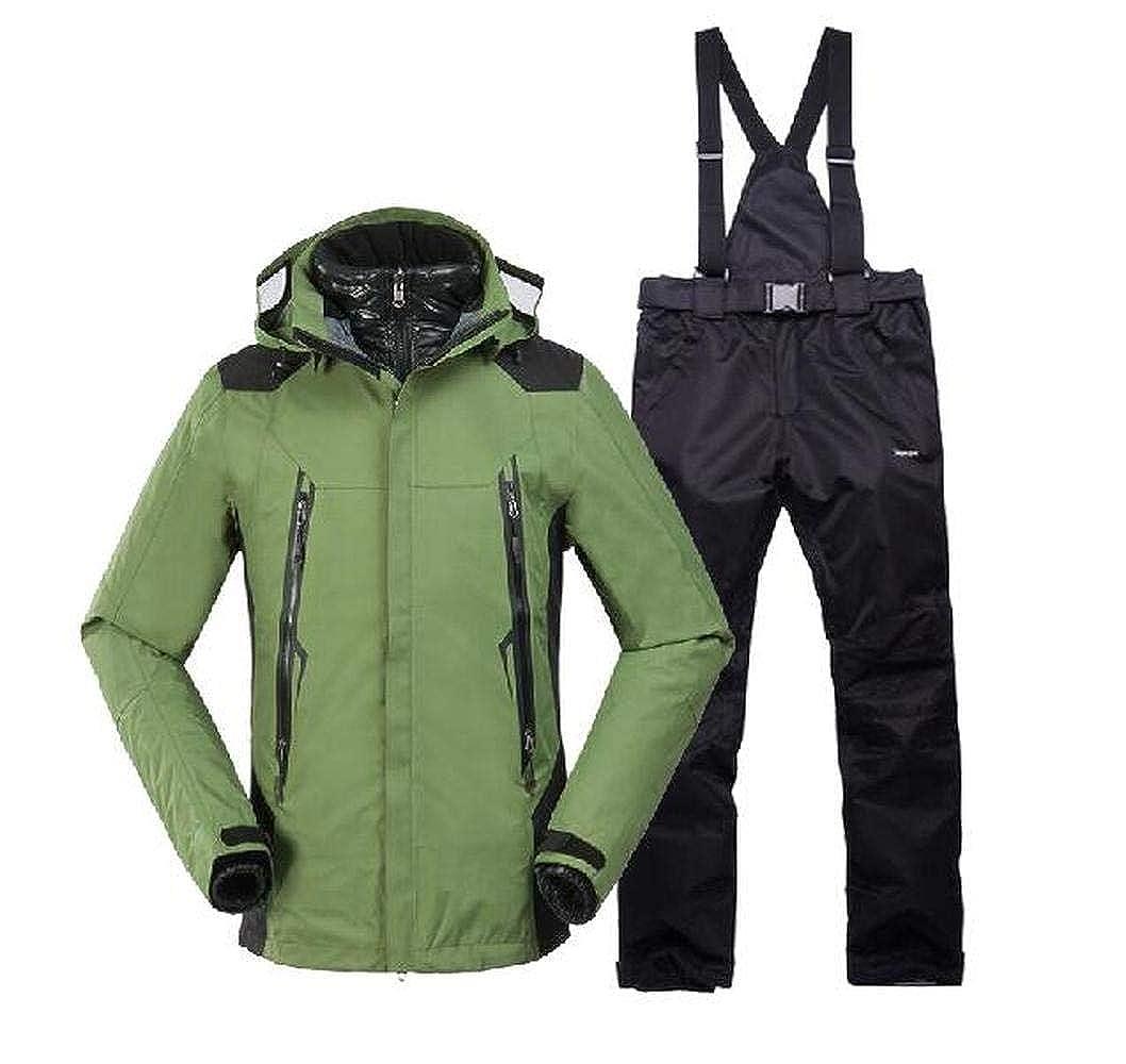 Men Hoodies Waterproof Windproof Outdoor Coat Pants Ski Suit Sets Jacket Snowboard Snowsuit