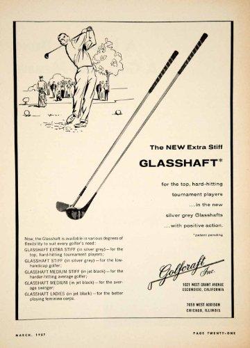 1957-ad-golfcraft-1021-w-grant-ave-escondido-ca-silver-grey-glasshaft-club-sets-original-print-ad