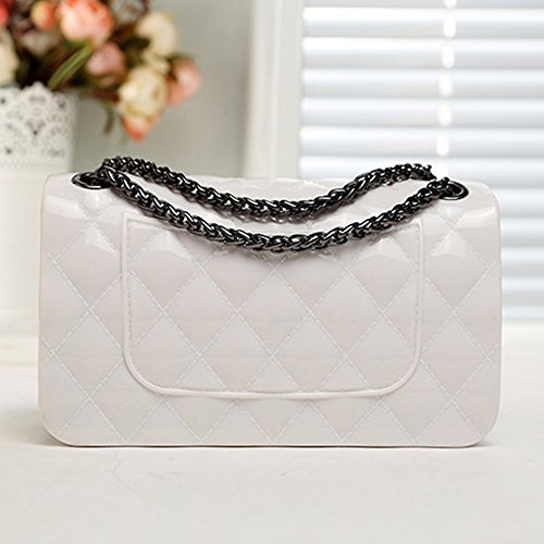 Cabinet Women white Mini Skin Clutch Byd off Woman Crossbody Pu Shoulder Metal Shoppers Messenger For And Soft Lozenge Bag Shoulder Bags Bag 1PwqHnwCxf