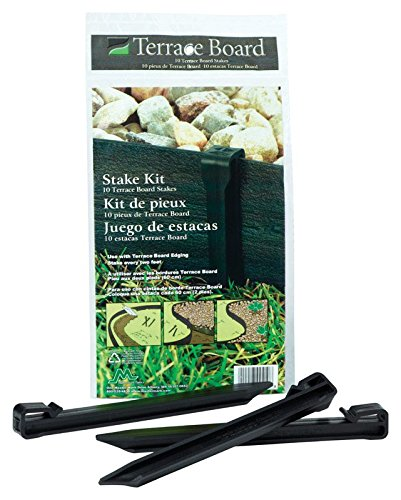 (Master Mark Plastics 99410 Terrace Board 10 Inch 10 Pack, Black Stakes,)