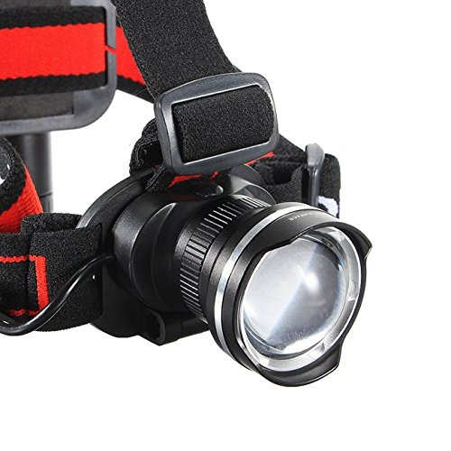 T6 LED 1600Lm Rechargeable Zoomable Bike Bicycle Headlight Headlamp ( Silver ) by Freelance Shop SportingGoods (Image #2)