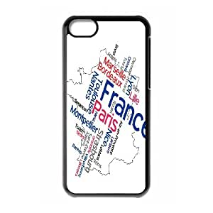 Europe Map On Back Phone Case For iPhone 5C