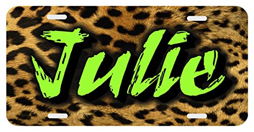 Leopard Lime Personalized Monogrammed License Plate