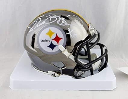 62ebf561709 Image Unavailable. Image not available for. Color  Jerome Bettis Autographed  Pittsburgh Steelers Chrome Mini Helmet - Beckett W Auth White