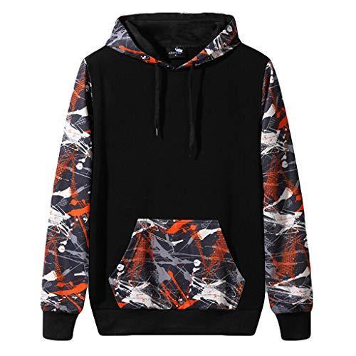 Camouflage Hoodie for Men's Autumn Winter Fashion Hoodie Long Sleeves Sport Sweatshirt Tops