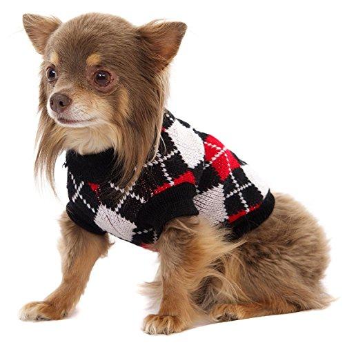 Rot Diamant weiß Strick Hund Puppy Jumper Pullover