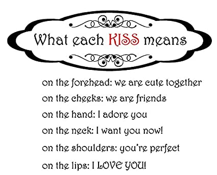 Amazon.com: Newclew What each kiss means, on the forehead ...
