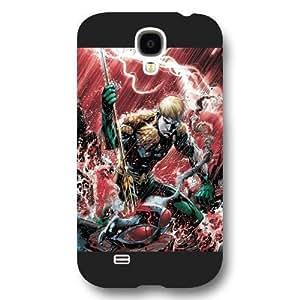 UniqueBox Aquaman Superheros Custom Phone Case for Samsung Galaxy S4, DC comics Aquaman Customized Samsung Galaxy S4 Case, Only Fit for Samsung Galaxy S4 (Black Frosted Shell) WANGJING JINDA