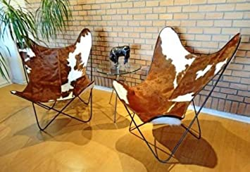 Classic Cover Cowhide Leather BKF Butterfly Chair   Only Cover
