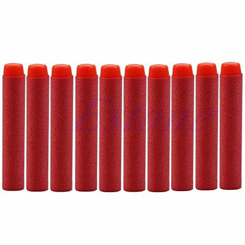 Stebcece 10 to 400 Pcs Toy Gun Refill Darts Bullet For Nerf N-strike Series Blaster 7.2cm (red)