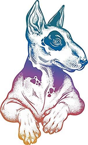 Magnet Cool Pen Sketch Art Bull Terrier Dog - Simple Rainbow Ombre Vinyl Magnet (4