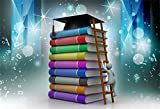 CSFOTO 7x5ft Background For Graduation Ceremony Climb Temple of Knowledge Photography Backdrop Fantasy Strive Study Books School College Success Commencement Photo Studio Props Wallpaper