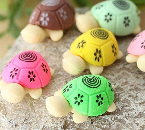 Domire 2pcs vivid Turtel Style Pencil Eraser Rubber Stationery Kid Gift Toy