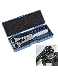 Watch Back Case Opener Screw Wrench Repair Tool Kit Cover Remover