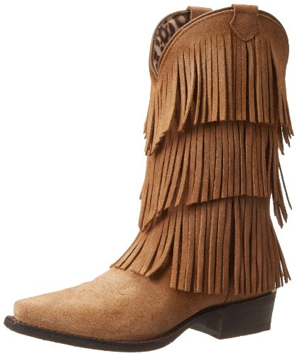 Tan Fringe Women's Dingo Burnished Tres Western Boot qYp1xP1w
