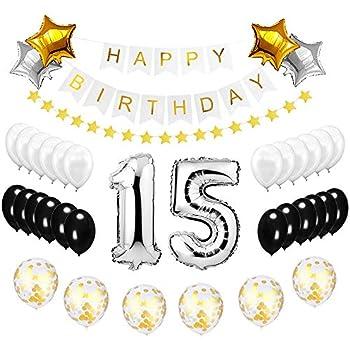 Amazon.com: Best Happy to 15th Birthday Balloons Set ...