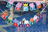 Party Propz Peppa Pig Happy Birthday Bunting Party Supplies