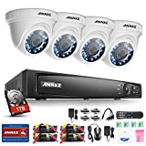 ANNKE 4-Channel 2MP DVR Security System with 1TB Hard Drive, (4) 2MP Dome Cameras,Easy Remote Access,Free App,Email Alarm with Picture, Smart Playback