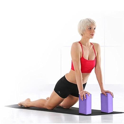 Pack de 2 bloques de yoga - bloque de espuma EVA de alta ...