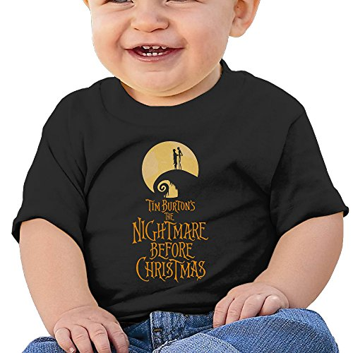 [DVPHQ Baby's The Nightmare Before Christmas Tshirts Little Boy's & Girl's Black Size 24 Months (6-24] (Board Game Characters Costumes)