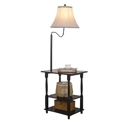 Lámparas de pie Lámpara de pie, mesa auxiliar del sofá de la ...