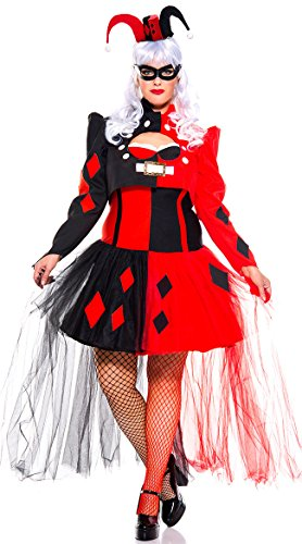 Jester Plus Size Costumes (Music Legs Steampunk Harley (3X4X))