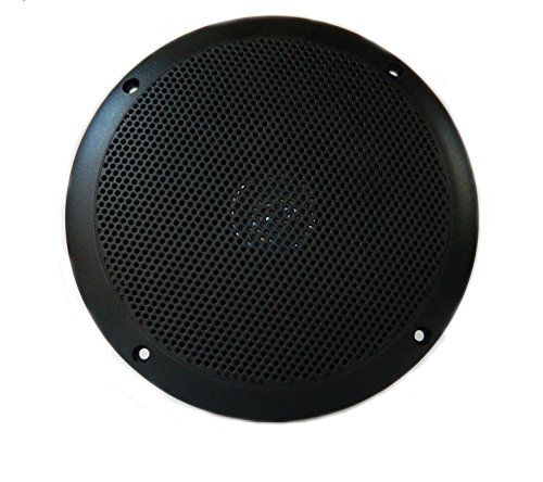 - PQN Enterprises RV610-4BK Waterproof Dual Cone Lightweight RV Marine Speaker, Black, 6