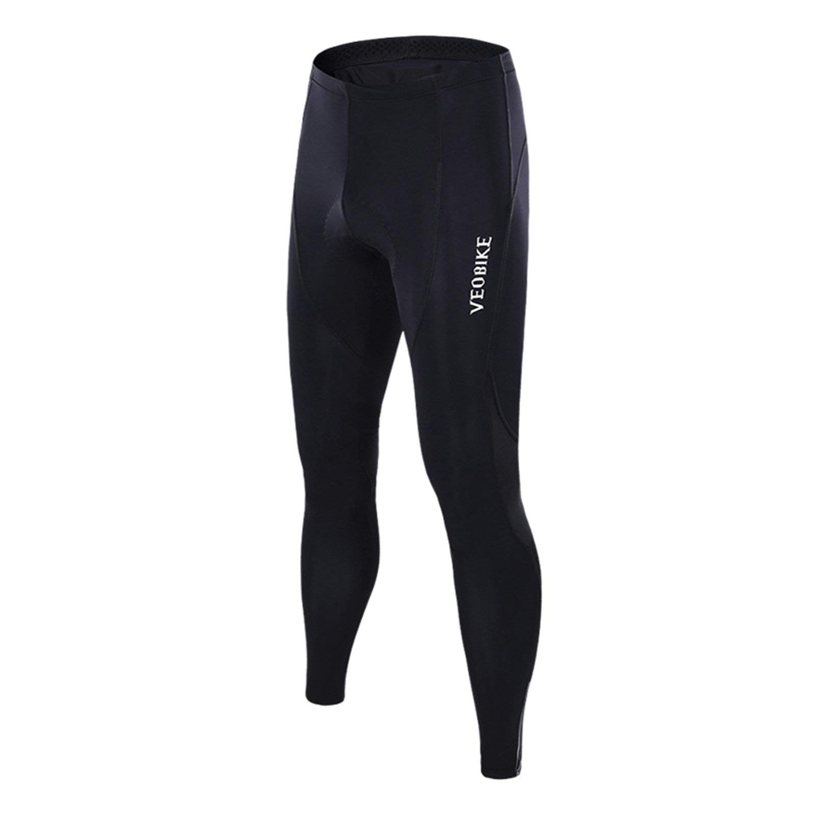 Aooaz Women's Cycling Clothes Riding Wear Mountain Padded Bike Bicycle Pants Tights Black Size S