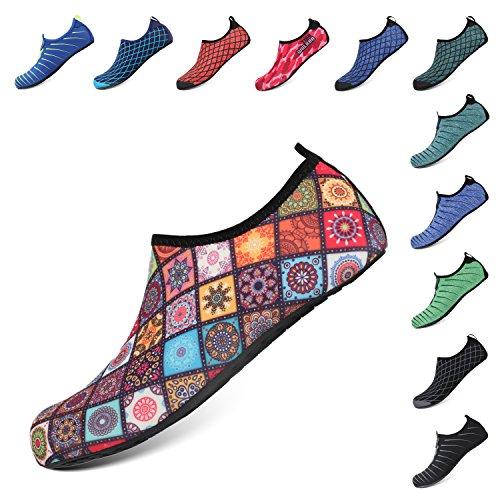 Men Aqua Quick Beach Shoes Water Heeta for Flower Swim Women Shoes Dry Barefoot Sports Swim Socks qSxXw8F