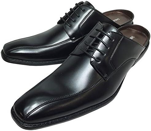 靴 メンズ ビジネス サンダル ビジネスシューズ スリッパ クールビズ 脚長 スリッポン ブラック