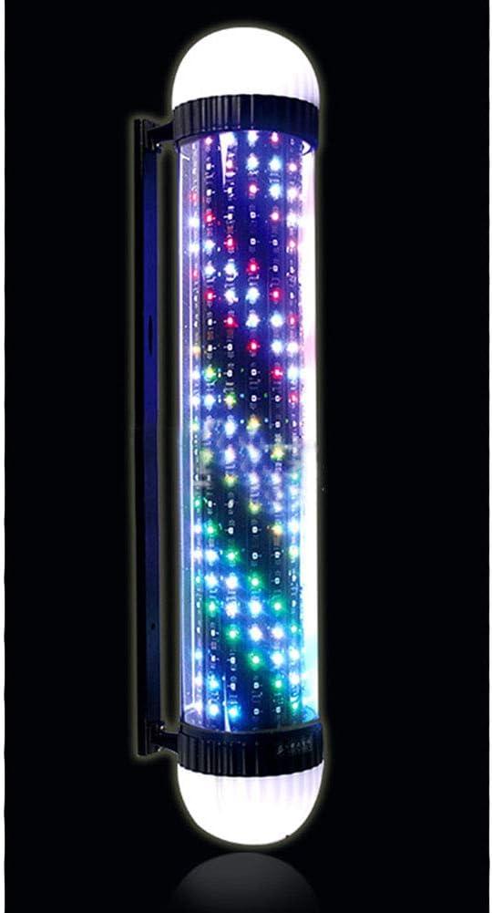 Peluquería Polo Barbería ABS Plástico LED Logo Gire La Lámpara ...