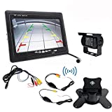 GERI-DC-12V-24V-Vehicle-Backup-Camera-System-Rear-View-Wireless-IR-Night-Vision-Reversing-camera-7-TFT-LCD-Rear-View-Monitor-with-audio-for-bus-truck-car-excavator