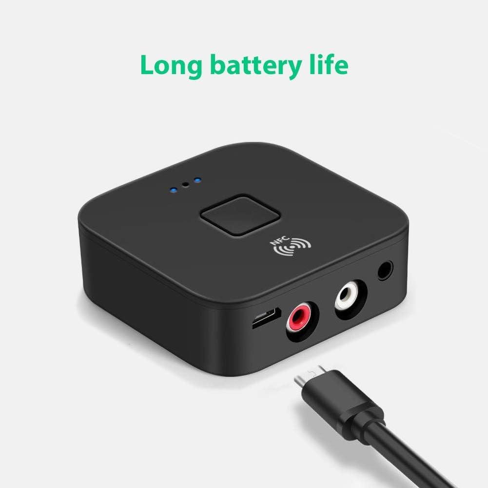 3.5mm AUX RCA Jack HiFi Wireless Adapter NFC Bluetooth 5.0 Audio Music Receiver hudiemm0B Bluetooth Receiver