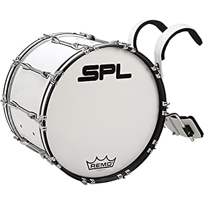 Sound Percussion Labs Birch Marching Bass Drum with Carrier 24 x 14 in. White by Sound Percussion Labs