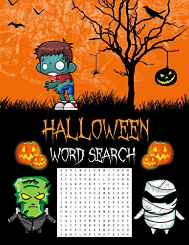 Easy Kids Halloween Word Search (Halloween Word Search: Halloween Gifts (Puzzle Books For Adults &)