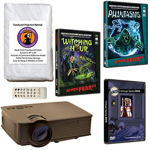 Window Projection Halloween (AtmosFearFX Phantasms & Witching Hour Virtual Reality Projector Value Kit for Halloween. Includes Free Virtual Santa)