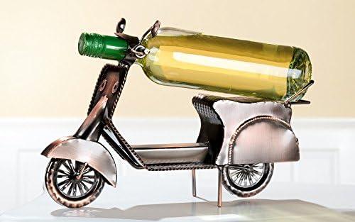 Gilde Soporte para Botellas 'Motor Roller', 33cm, Cobre