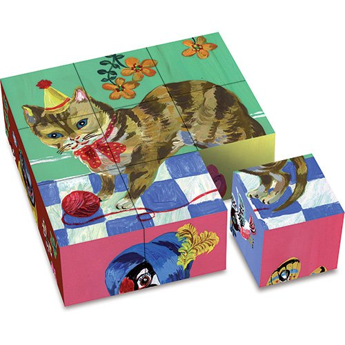 Vilac Set of 9 Cardboard Blocks