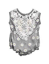 Infant Baby Girls Lace Floral Sleeveless Romper Clothes Outfits