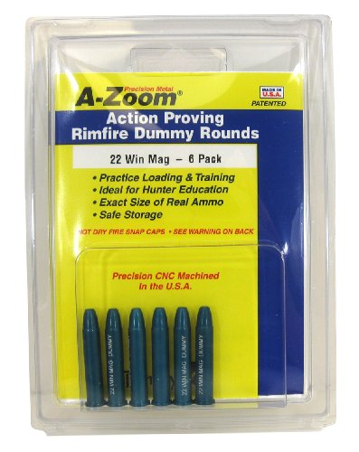 A-Zoom 6-Pack Precision Snap Caps fits 22 Win Mag Action Proving Dummy Rounds ()